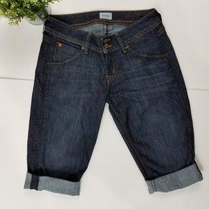 Hudson Malibu Cuffed Capri Knee Shorts Size 28